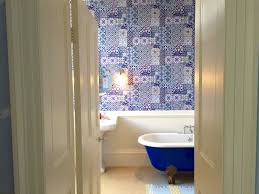 blue room scarlet hen twin beds sleeps 2 in the most tranquil room in the house pale blue decor with stunning moroccan bathroom with roll top bath fluffy white towels egyptian