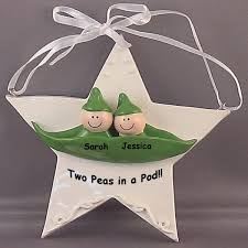 peas in a pod ornament baby ornament two peas in a pod personalized