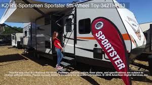 Sportsman Rv Floor Plans Kz Rv Sportsmen Sportster 5th Wheel Toy 342thr13 Youtube
