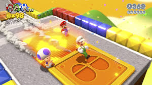super colorful super mario 3d world screens show colorful environments vg247