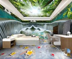 3d huge tree forest waterfall entire room wallpaper wall murals 3d huge tree forest waterfall entire room wallpaper wall murals art prints idcqw 000128