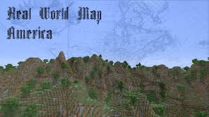 North America World Map by Minecraft Real World Map 1 North America Youtube
