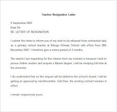 10 resignation letter template word and pdf download graphic cloud