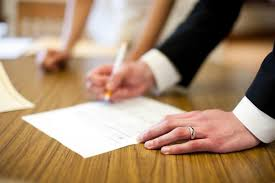 wedding signing signing the papers the part the budget savvy
