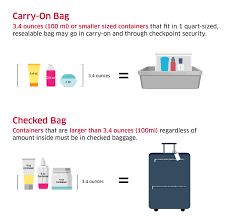 united check in luggage liquids rule transportation security administration