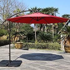10 Ft Offset Patio Umbrella Amazon Com Le Papillon 10 Ft Offset Hanging Patio Umbrella