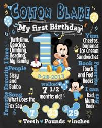 ideas for baby s birthday baby mickey mouse birthday chalkboard poster digital file baby