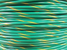 mtw 8 awg green yellow stripe 19 strands copper ground wire