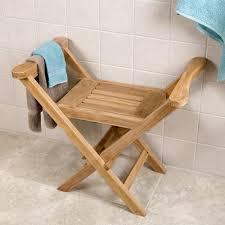 Foldable Shower Chair Solid Teak Corner Folding Shower Seat