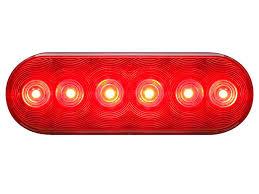 led trailer tail lights optronics stl12rb 6 oval led trailer tail light
