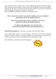 opening sentence cover letter cover letter cover letter