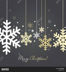 Gold And Silver New Years Decorations by Christmas New Year Card Snowflakes Vector U0026 Photo Bigstock