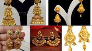 gold jhumka earrings design 1gram gold jhumka earrings design jewellery design like