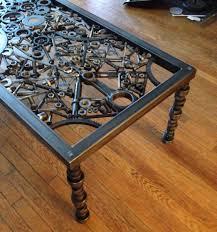 rustic metal coffee table hand made coffee table metal coffee table metal art table