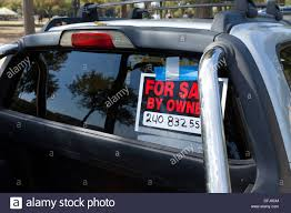 for sale by owner sign on pickup truck stock photo royalty free