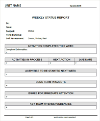 weekly status report template excel status report templates free word pdf excel documents