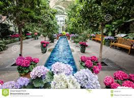 inside the united states botanical garden stock image image