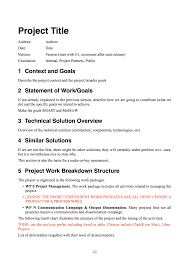 project project documentation template