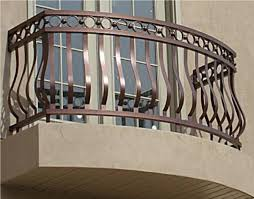 balcony rails porch decorative railing wrought residential aluminum