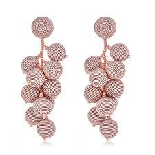 suzanna dai earrings suzanna dai blush gumball cluster earrings hauteheadquarters