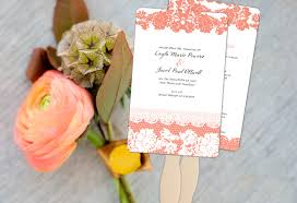 Fan Style Wedding Programs Color Monday Classic Lace Wedding Program Fanstruly Engaging