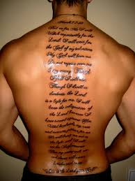 english scripts men u0027s back tattoo tattoomagz