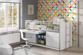 Schreibtisch 90 Halbhochbett Mit Schreibtisch Bonny 95 Weiß Kaufen