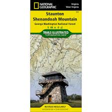 Virginia Mountains Map by Virginia National Geographic Store