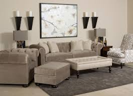 sofas chesterfield style chesterfield style chair and ottoman with wooden bun feet by