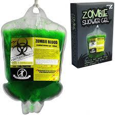 zombie blood shower gel in plasma bag mightymega