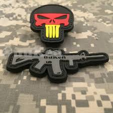 Uniform Flag Patch Germany Flag Punisher Cut Out Morale Patches Airsoft Tactical