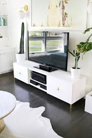 best 25 ikea tv ideas on pinterest ikea tv stand tv cabinet ikea restyle mid century tv stand a beautiful mess