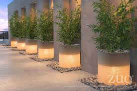 Modern White Planter by Atla Illuminated White Planter By Zuo Modern Seven Colonial