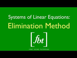 solving systems of equations by fort bend tutoring fbt nhltv