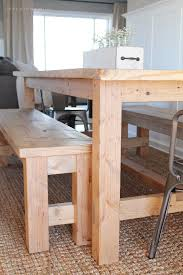 Tables With Bench Seating Diy Farmhouse Table Love Grows Wild