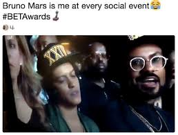Bet Awards Meme - bruno mars is me at every social event betawards sleepy bruno