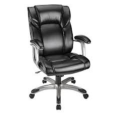 Leather High Back Armchair Realspace Salsbury High Back Chair Black By Office Depot U0026 Officemax