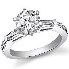 engagement rings with baguettes the one baguette 2 2c square forever brilliant moissanite