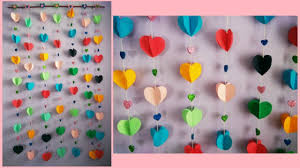 how to make easy paper wall hanging youtube