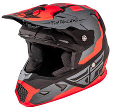 orange motocross helmet toxin matte orange black grey helmet fly racing motocross mtb
