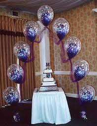 Balloon Centerpieces For Tables Wedding Cake Table Decoration Ideas With Balloons