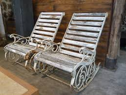 cast iron garden rocking chairs garden teijink