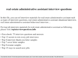 real estate administrative assistant resume sample resume samples
