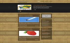 free wooden red business css website template download