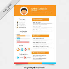 resume format free download 2015 cartoons orange resume template vector free download
