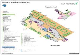 Airport Terminal Floor Plans by Terminal 4 Heathrow U2014 Arrivals Airport Layouts Of United