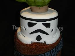 star wars yoda stormtrooper and chewbacca cakecentral com