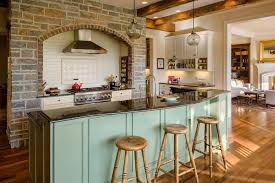 mint green kitchen rustic with recessed lighting traditional