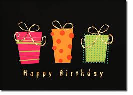 modern gifts birthday card