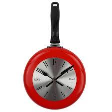 themed clock aliexpress buy high quality wall clock metal frying pan